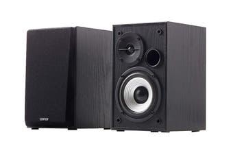 Edifier Studio Quality 2.0 Bookshelf Speaker System with Dual RCA Input - Black (R980T)