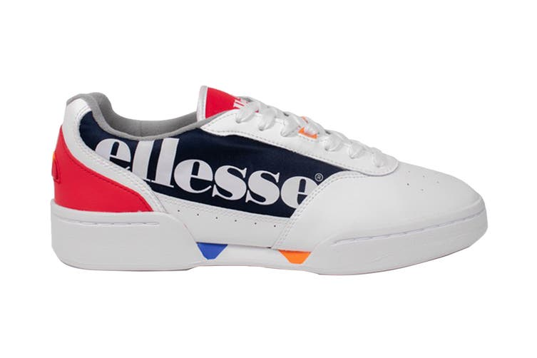 Ellesse Men's Piacentino Leather AM Shoe (White/Navy/Red, Size 9.5 US)