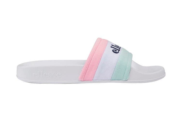 Ellesse Women's Borgaro Text AF Sandal (Aqua/White/Almond, Size 5 US)