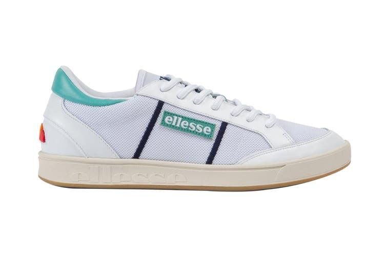 Ellesse Men's Ls-81 Bdg Text AM Shoe (White/Sea Blue, Size 8 US)