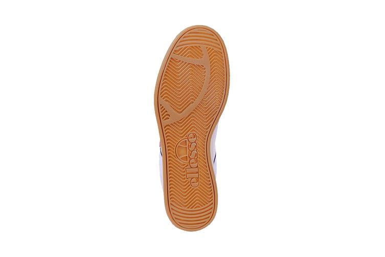 Ellesse Men's Ls-81 Bdg Text AM Shoe (White/Flame Scarlet, Size 10 US)