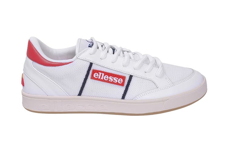 Ellesse Men's Ls-81 Bdg Text AM Shoe (White/Flame Scarlet, Size 11 US)