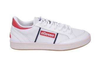 Ellesse Men's Ls-81 Bdg Text AM Shoe (White/Flame Scarlet)