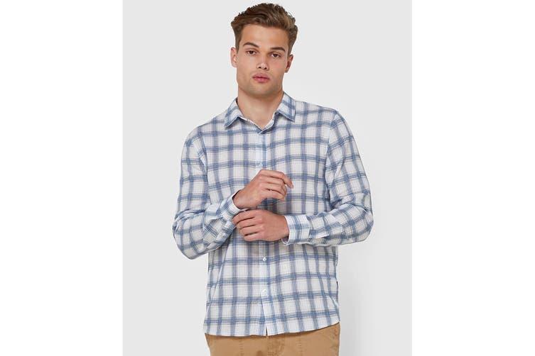 Elwood Men's Wolfgang Shirt (Blue/White, Size M)