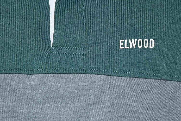 Elwood Men's Holiday Rugby Jersey (Antique Green, Size M)