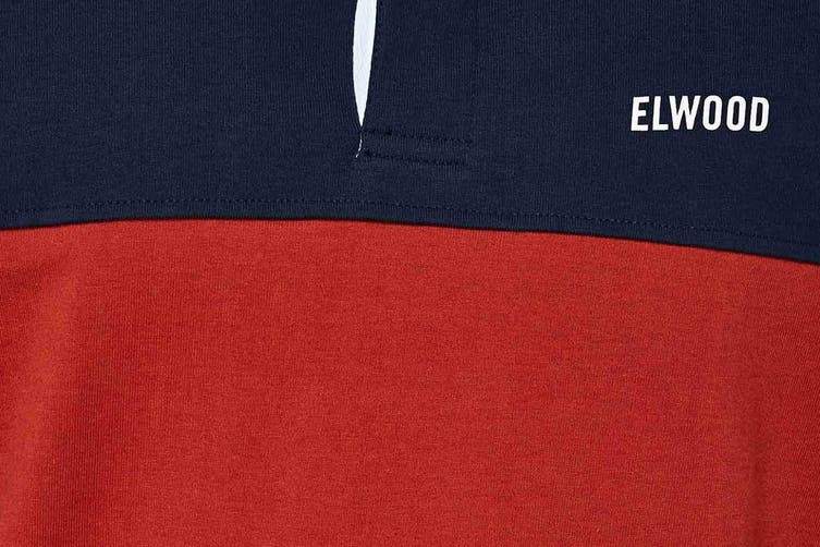 Elwood Men's Holiday Rugby Jersey (Dark Navy, Size S)