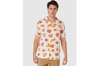Elwood Men's Fruit Resort Shirt (Off White)