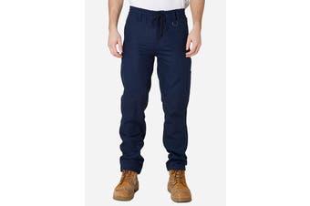 Elwood Men's Elastic Pant (Navy)