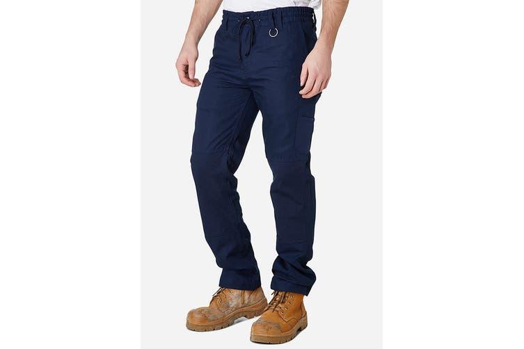 Elwood Men's Elastic Pant (Navy, Size 34)