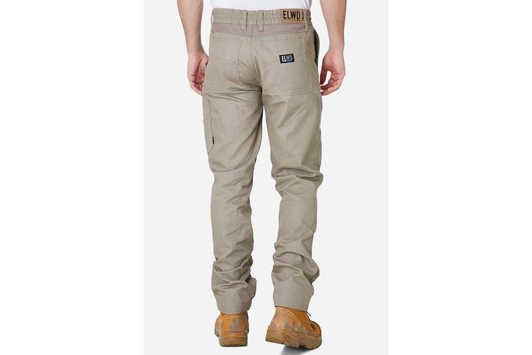 Elwood Men's Elastic Pant (Stone, Size 28)