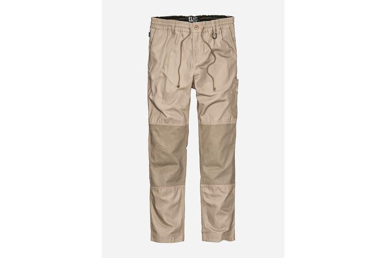 Elwood Men's Elastic Pant (Stone, Size 36)