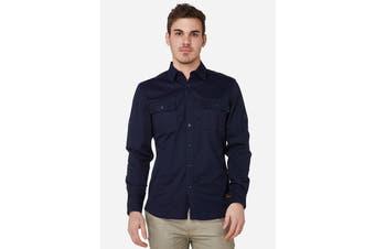 Elwood Men's Utility Shirts (Navy)