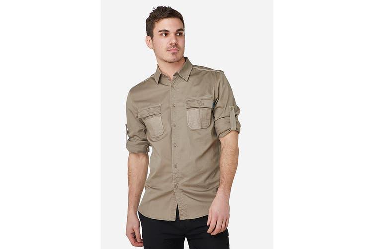 Elwood Men's Utility Shirts (Stone, Size 4XL)