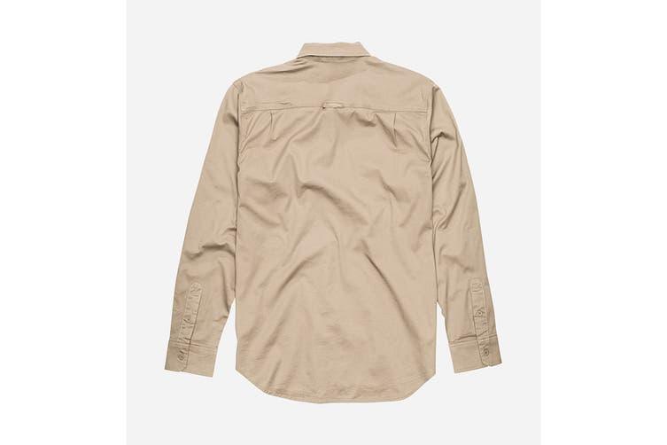 Elwood Men's Utility Shirts (Stone, Size L)