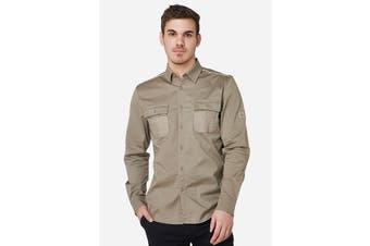 Elwood Men's Utility Shirts (Stone)