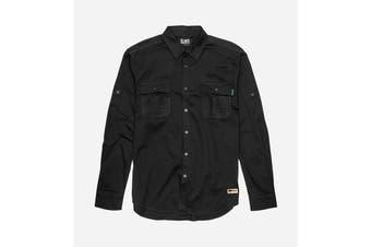 Elwood Men's Utility Shirts (Black, Size 2XL)