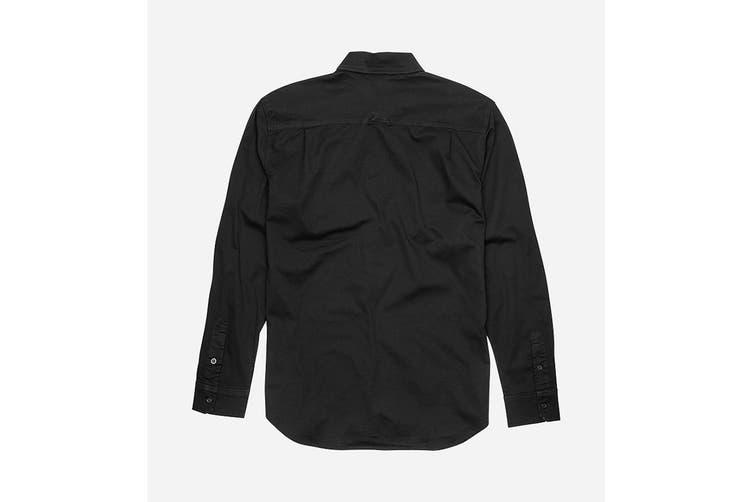 Elwood Men's Utility Shirts (Black, Size S)