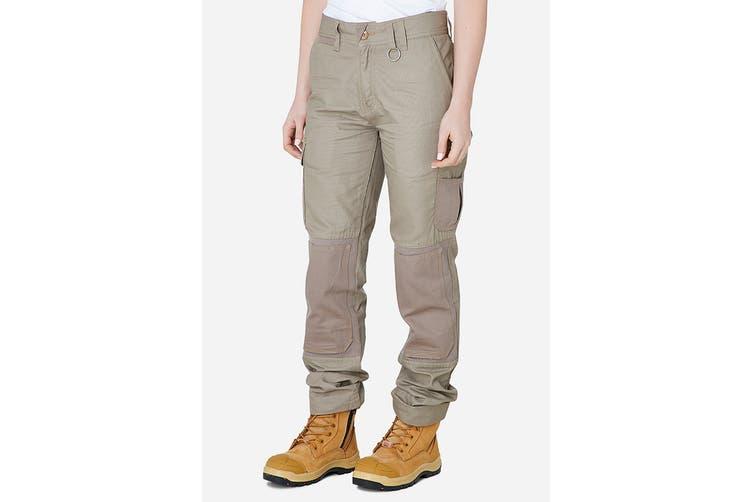 Elwood Women's Utility Pant (Stone, Size 14)