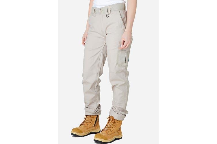 Elwood Women's Basic Pant (Light Stone, Size 16)