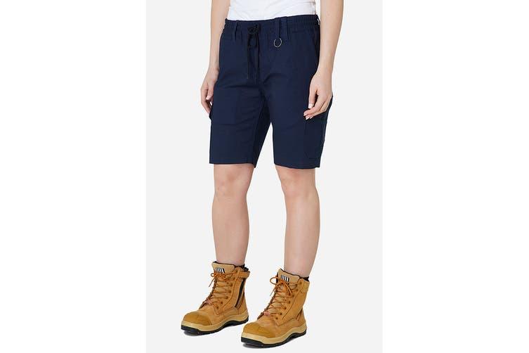 Elwood Women's Elastic Utility Short (Navy, Size 6)