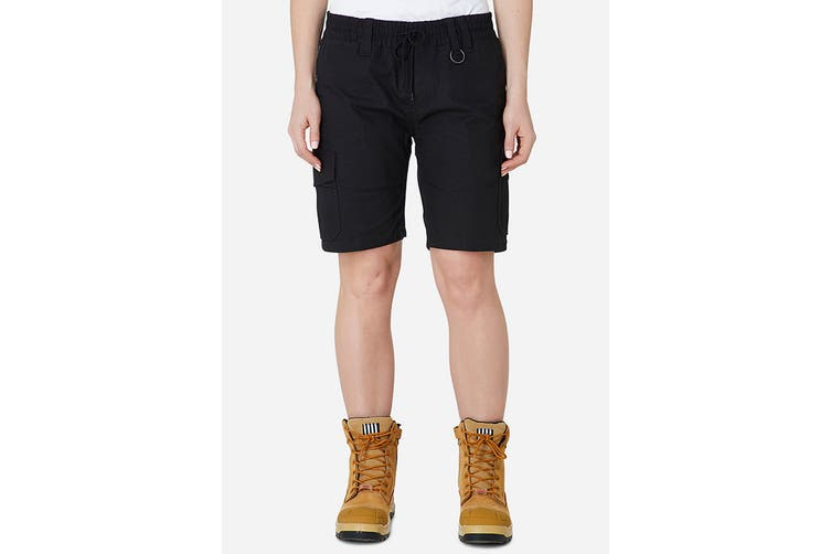 Elwood Women's Elastic Utility Short (Black, Size 8)