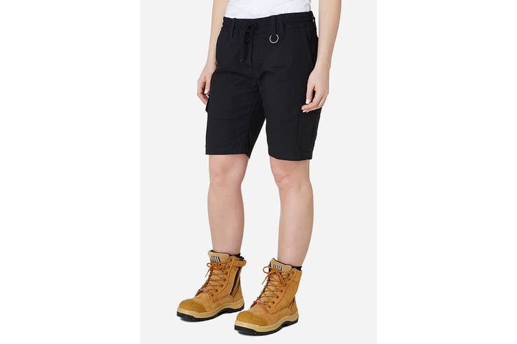 Elwood Women's Elastic Utility Short (Black, Size 10)