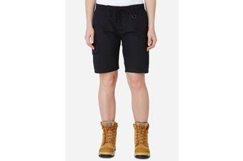 Elwood Women's Elastic Utility Short (Black, Size 12)