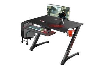 Eureka Ergonomic Small Gaming Computer Desk - Black