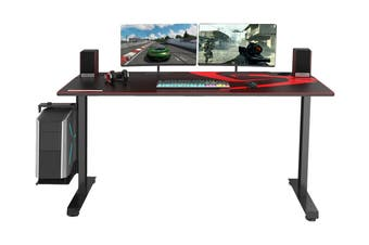 Eureka Ergonomic I60-SLB Racing Gaming Desk Large Gamer Desks with Full-Size Mouse Pad