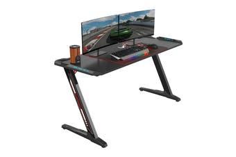 Eureka Ergonomic Z60 Black Gaming Desk with RGB Lights