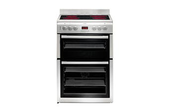Euromaid 60cm Upright Electric Freestanding Cooktop & Oven with Separate Grill - Silver (CDDS60)