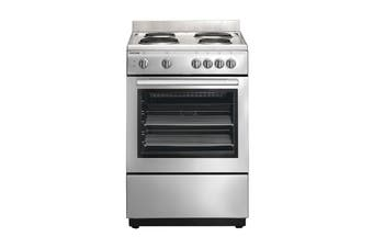 Euromaid 60cm Upright Electric Freestanding Cooktop & Oven - Silver (ES60)