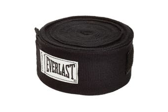 "Everlast 180"" Hand Wraps (Black)"