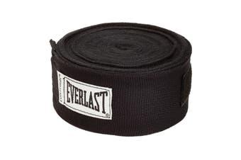 "Everlast 180"" Hand Wraps (Black)"