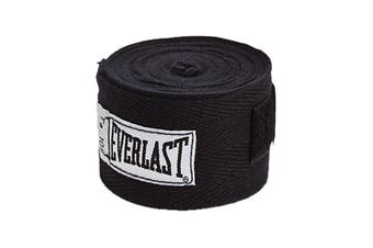 "Everlast 108"" Hand Wraps (Black)"