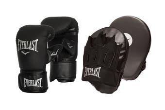 Everlast Tempo Bag Glove & Mitt Combo (Black)