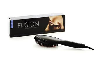 FUSION Hair Straightening Brush (Black)