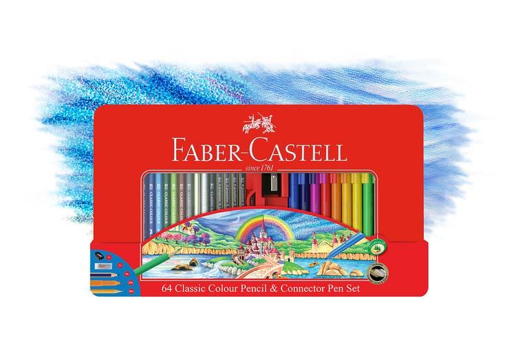 Faber-Castell 64 Piece Classic Colour Pencil & Connector Pen Set