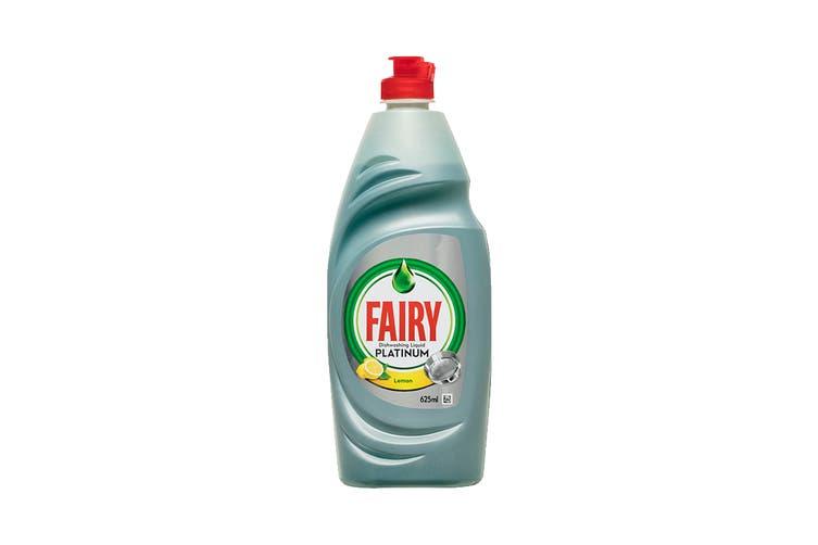 Fairy Platinum Dishwashing Liquid 625ml - Lemon (4 Pack)