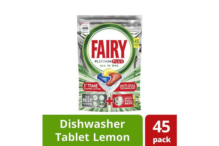 Fairy Dishwashing Tablets Platinum Plus - Lemon (180 Pack)