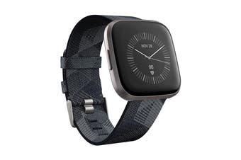 Fitbit Versa 2 Smart Fitness Watch (Smoke Woven, Mist Grey Aluminium)