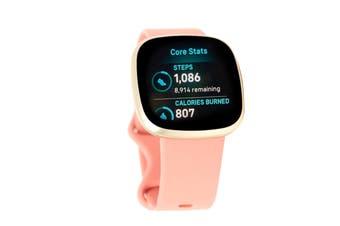 Fitbit Versa 3 Smart Fitness Watch (Pink Clay, Soft Gold Aluminium)
