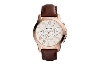 Fossil Grant Chronograph Watch - Dark Brown (FS4991)