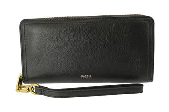 Fossil Logan RFID Zip Around Clutch - Black (SL7831001)