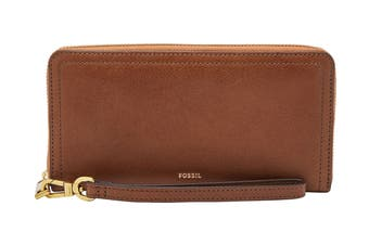 Fossil Logan RFID Zip Around Clutch - Brown (SL7831200)