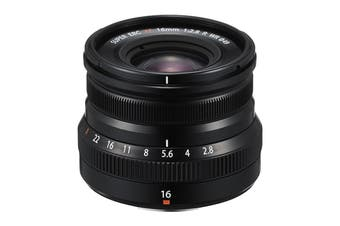 Fuji X Lens XF16mm F2.8 R Weather Resistant Lens - Black