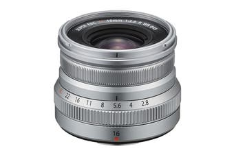 Fuji X Lens XF16mm F2.8 R Weather Resistant Lens - Silver