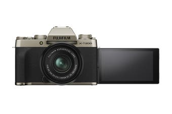 Fujifilm X-T200 Mirrorless Camera with XC15-45mm Lens - Champagne Gold