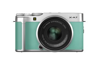 Fujifilm X-A7 Mirrorless Camera with XC15-45mm Lens - Mint Green