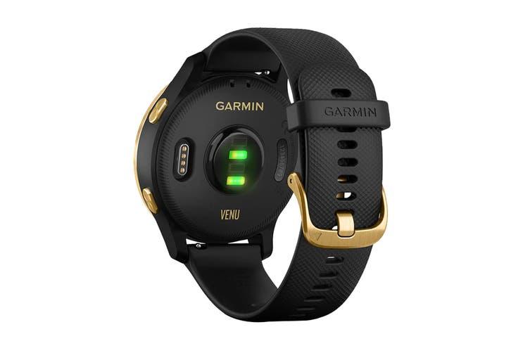 Garmin Venu Amoled GPS Smart Watch (Gold/Black)
